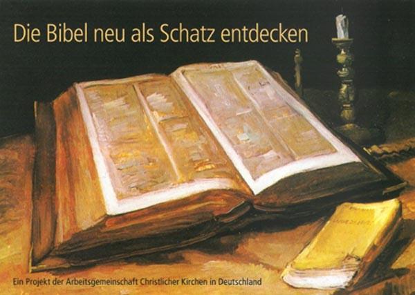 Die Bibel neu als Schatz entdecken - Postkarte