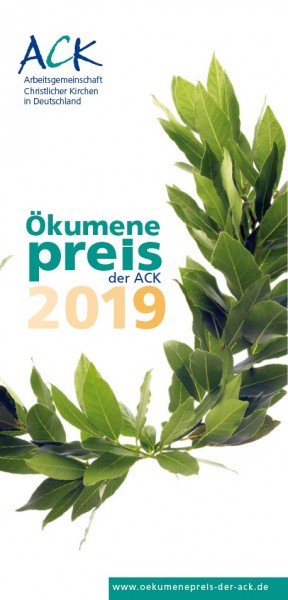 Flyer zum Ökumenepreis 2019