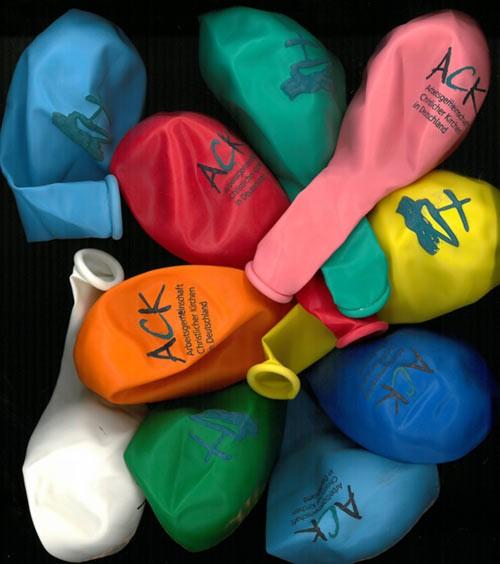 Luftballons mit ACK Logo